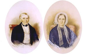 Portraits of John Harris and Amelia Ryerse Harris 19th Century