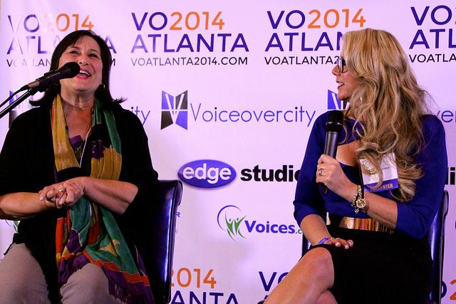 Katie Leigh with Anne Ganguzza at VO Atlanta 2014
