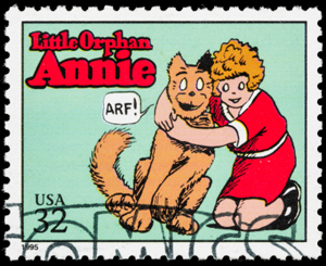 Little Orphan Annie Postage Stamp, comics, USA stamp, 32 cents