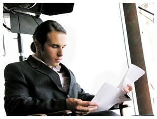 Man reading a script
