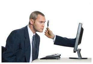 Man searching online