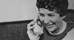 Marion Dougherty on the phone