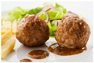 two meatballs