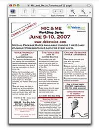 Register for Mic & Me in Toronto