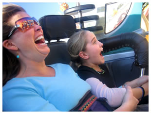Mother and daughter on a ride