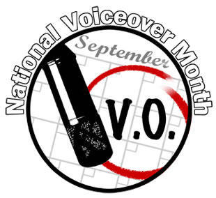 National Voice Over Month logo