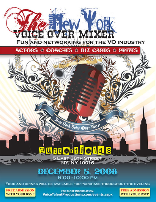 New York Voice Over Mixer 2008