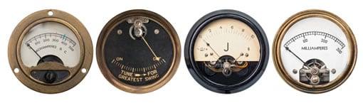 Old fashioned gauges
