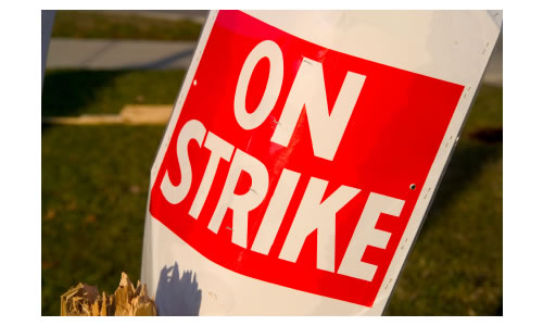 On Strike Sign