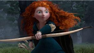 Pixar Brave, Merida with bow