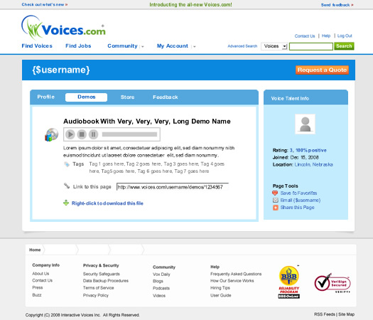 Profile Demo Details Voices.com
