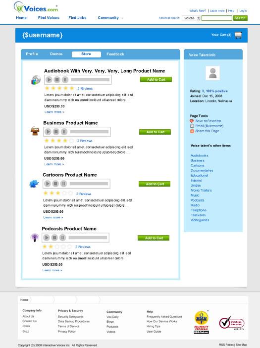 Profile Store Voices.com