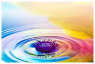 Rainbow water drop
