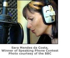 Sara Mendes da Costa Speaking Clock