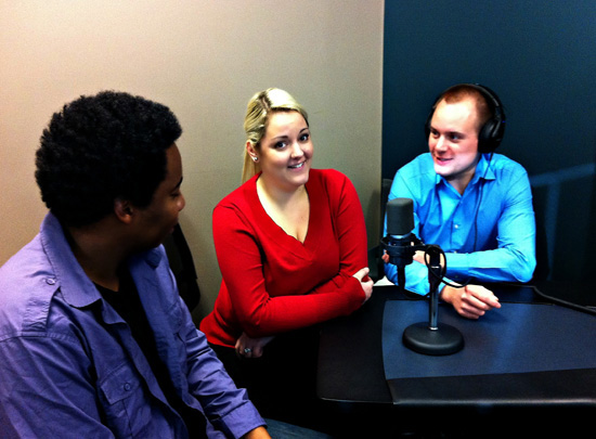Sheldon Matthews, Ashley Davidson and Andrew Amos at Voices.com