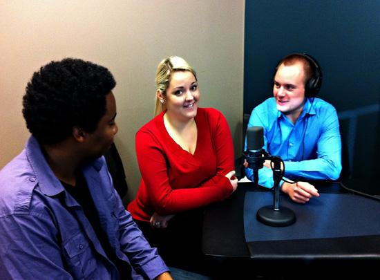 Sheldon Matthews, Ashley Davidson and Andrew Amos at Voices.com
