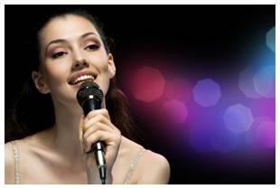 Smiling Girl Singing