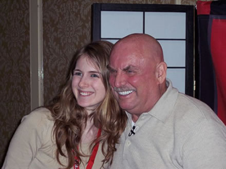 Don LaFontaine and Stephanie Ciccarelli at VOICE 2007