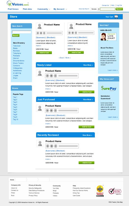Voices.com Store
