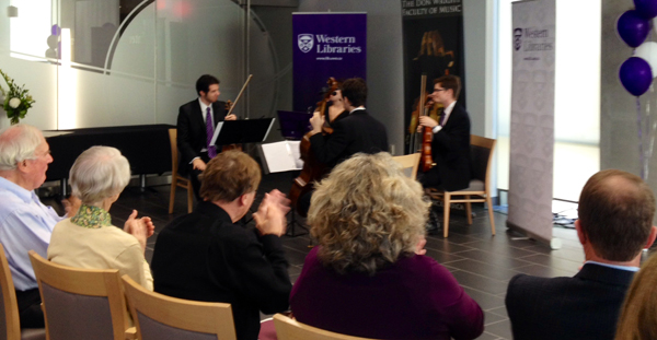 Don Wright Faculty of Music student string quartet