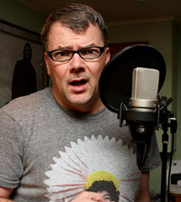 Terry Daniel in studio, fun shot!