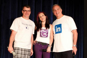 Terry Daniel, Trish Basanyi and Dave Courvoisier are the Super Socials!