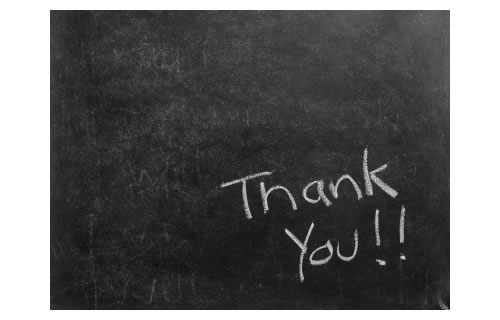 Blackboard Thank You Note