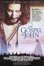 The Gospel of John movie poster; the role of Jesus Christ is played by actor Henry Ian Cusick. Director Philip Saville.