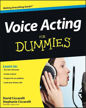 Voice Acting For Dummies book cover