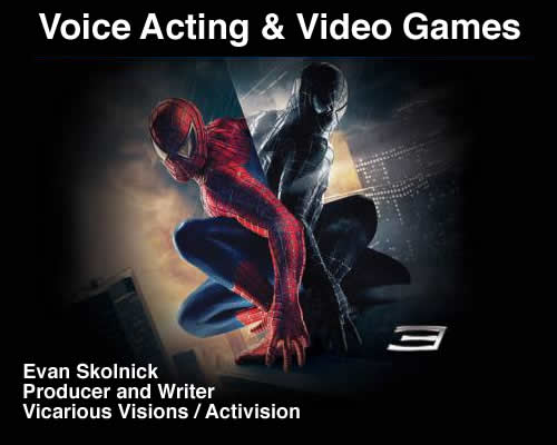 SpiderMan Videogame Voiceovers