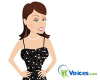 Voices.com's Voice Girl dressed for the Oscars