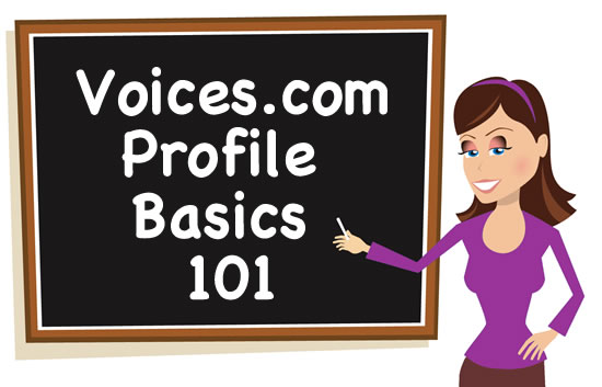 Voice Girl teaching about Profile Basics 101, purple outfit