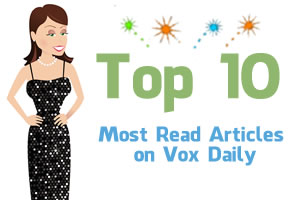 Voice Girl celebrating VOX Daily Top 10 posts in 2011 at Voices.com