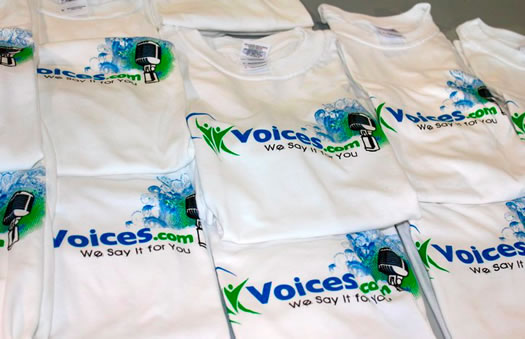 Voices.com t-shirts