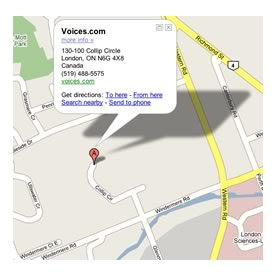 Voices.com Local Map
