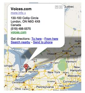 Voices.com Regional Map