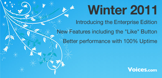 Winter 2011 Release at Voices.com