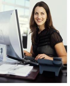 Woman blogging