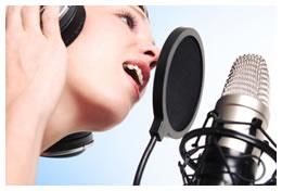 Woman recording