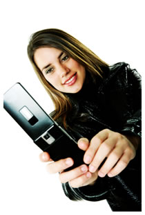 Woman taking a picture of herself with her cell phone