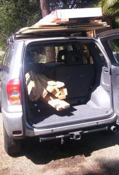 Wood in Truck