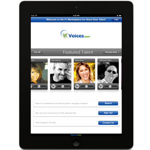 Voices.com iPad App