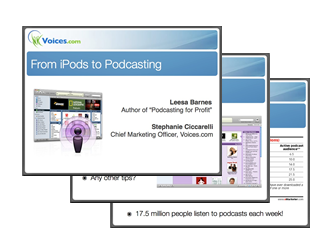 iPods to Podcasting Webinar